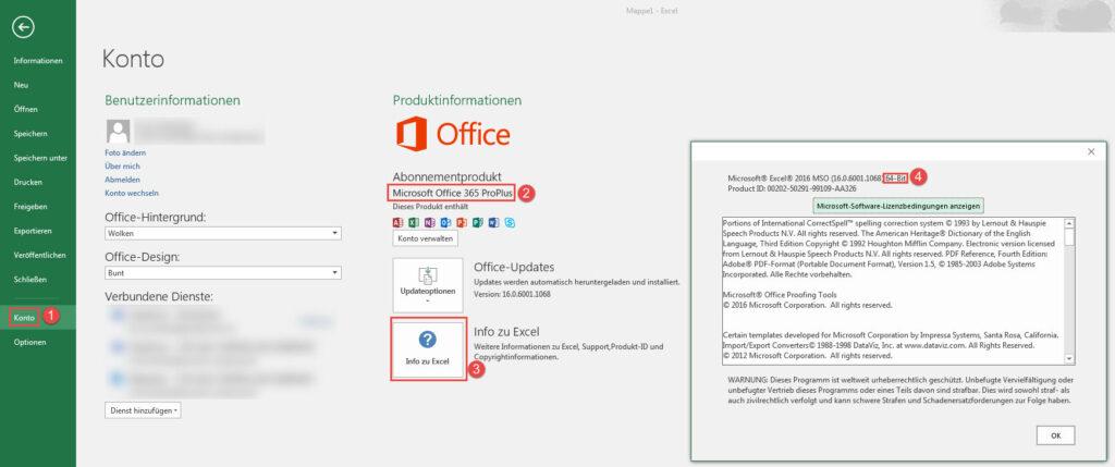 So findest Du heraus, welche Excel-Version bei Dir installiert ist