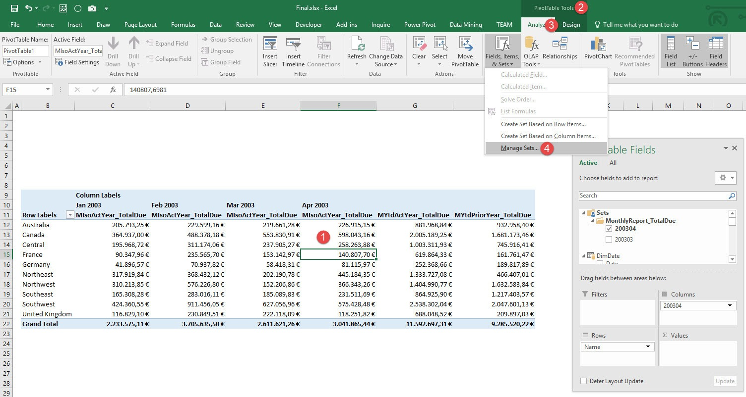 See the MDX behind Named Sets in Excel - Step01
