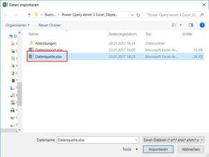 Aktuelle Datei als Datenquelle auswählen