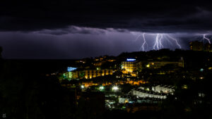 Thunderstorms over the Costa Brava, Spain