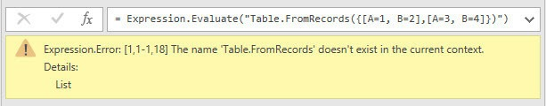 Trying to use native m functions inside Expression.Evaluate, Power Query, Power BI Desktop