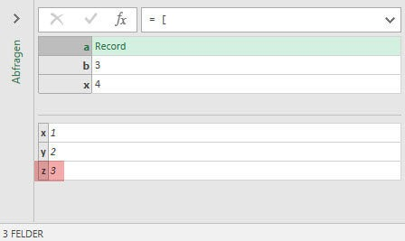 Result: Refering to x from inside record a (Power Query, Power BI)