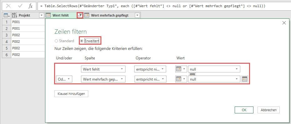 Datensätze ohne Datumsangaben entfernen, Power Query, Power BI Desktop
