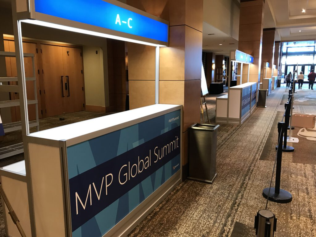 Die Registrierungsstände, Power BI, MVP Global Summit