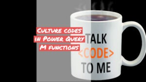 Culture codes in M functions