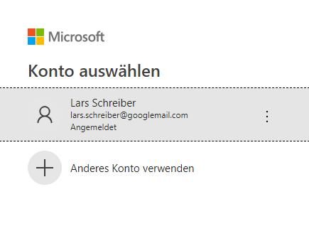 Authentifizierung mit einem Microsoft-Konto, Power BI