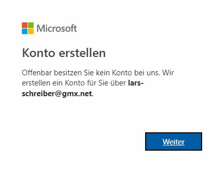 Anlegen eines Microsoft-Kontos, Power BI