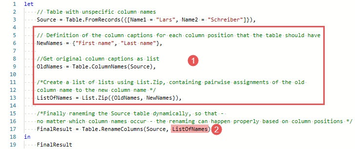 Renaming dynamically varying column names, Power Query, Power BI