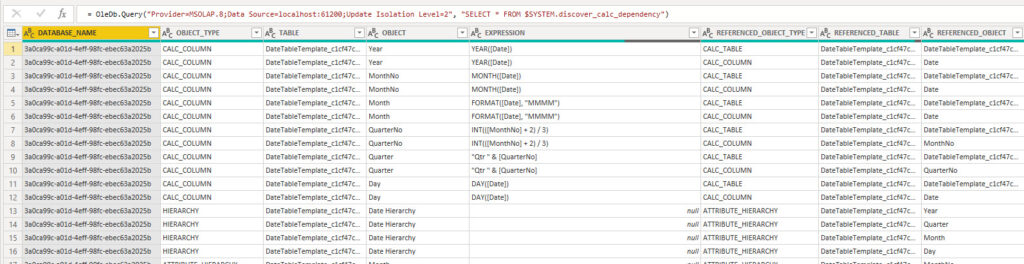 Using the DMV SYSTEM.MDSCHEMA_MEASURES to get information about all measures, Power BI Desktop, Power Query