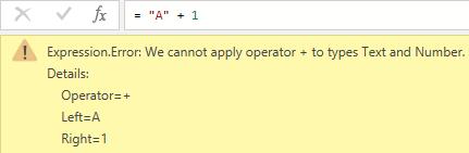 Standard error message in M, Power Query, Power BI Desktop