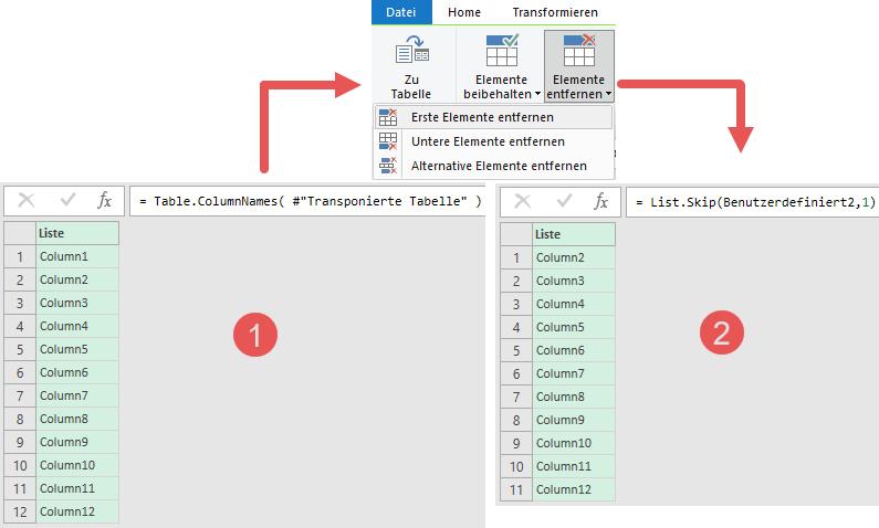 Dynamische Ermittlung der Spalten, die summiert werden sollen, Power Query, Excel, Power BI Desktop