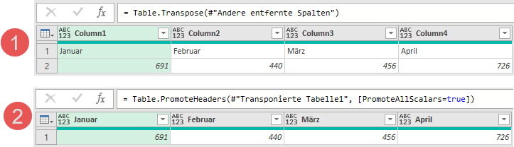 Wiederherstellung der Ursprungsstruktur, Power Query, Excel, Power BI Desktop