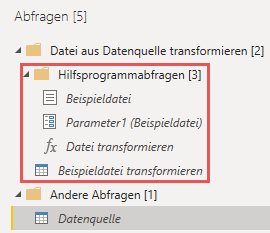 Hilfsprogrammabfragen, Power Query, Excel, Power BI Desktop